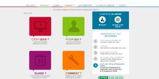 Capture d'écran du site d'Admission Post Bac