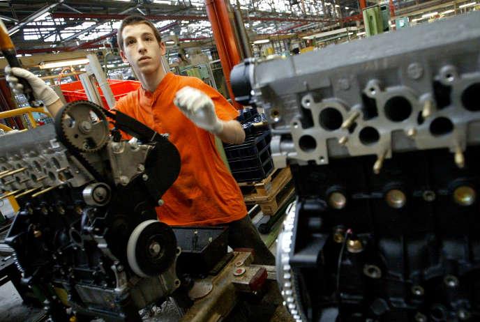 A l'usine PSA Peugeot Citroën de Trémery, en Moselle.