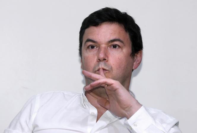 Thomas Piketty à la Fondation Jean-Jaurès, le 6 avril 2017.