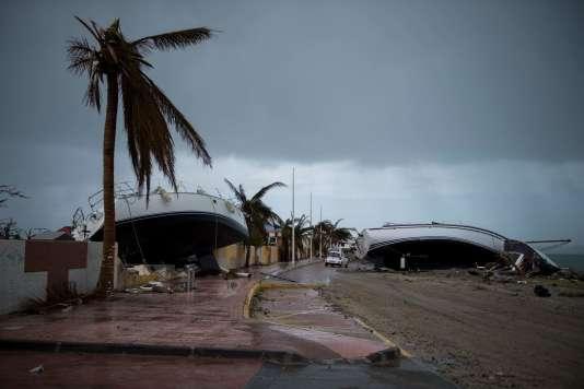 La ville de Marigot, à Saint-Martin, après le passage de l'ouragan Irma, le 9 septembre.