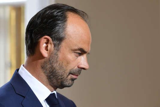 Le premier ministre Edouard Philippe, à l'Hôtel Matignon, à Paris, le 31 août 2017.