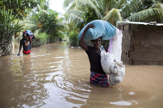 L'ouragan Irma avait déjà inondé la ville de Fort-Liberté, à Haïti, le vendredi 8 septembre.