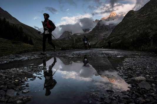 Lors de la quinzième édition de l'Ultra-Trail du Mont-Blanc, à Courmayeur (Italie), le 2 septembre.