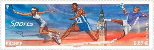 « Le Royaume-Uni, qui excelle dans la communication, a su utiliser les Jeux pour projeter son soft power et en faire une gigantesque publicité» (Illustration: timbre français émis à l'occasion des JO de Londres en 2012).