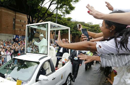 Le pape François à Medellín, en Colombie, le 9 septembre.