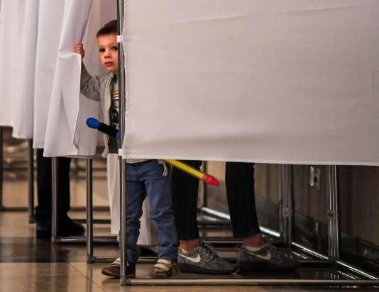 A Moscou, le 10 septembre, lors des élections locales.