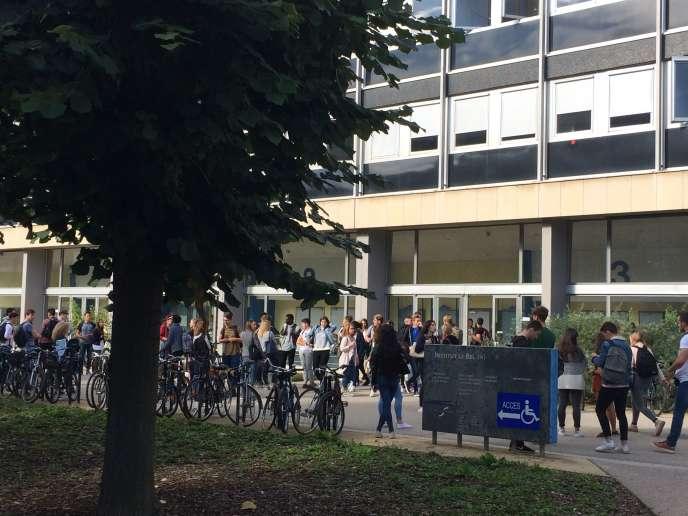 La rentrée universitaire sur le campus strasbourgeois, en septembre 2017.