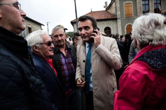 Florian Philippot, le vice-président du Front national, à Brachay (Haute-Marne), lors de la rentrée politique du parti, le 9 septembre.