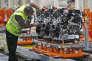 Moteur diesel 2 litres, dans l'usine Ford Dagenham à Londres, le 21 juillet.