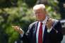 Le président américain Donald Trump à Washington avant son départ pour Camp David, le 8 décembre.