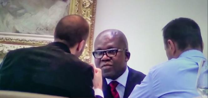 « André», l'émissaire de Denis-Christel Sassou-Nguesso, fils du président congolais (Brazzaville) face à l'intermédiaire français de la firme Gunvor, Olivier Bazin dit « Colonel Mario» et au directeur financier de Gunvor.