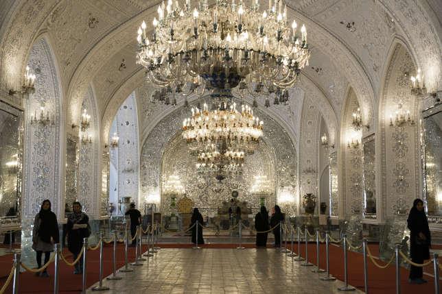 La salle des miroirs, du Palais du Golestan.