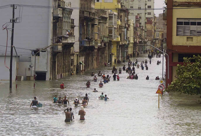La Havane après le passage d'Irma, le 10 septembre.