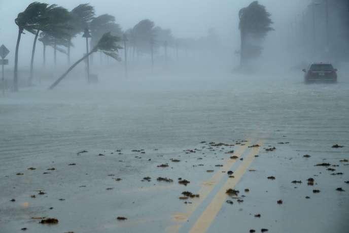 Pendant le passage de l'ouragan Irma à Fort Lauderdale en Floride, le 10 septembre.