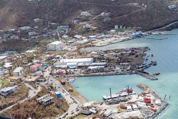 Les dégâts causé par Irma à Tortola, dans les îles Vierges britanniques.