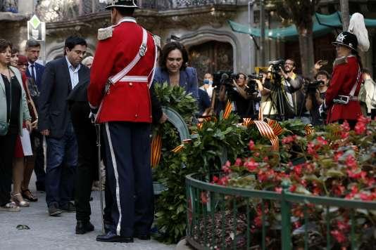 La maire de Barcelone, Ada Colau, le 11 septembre à Barcelone.