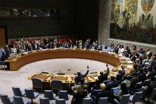 Le Conseil de sécurité de l'ONU a adopté une nouvelle série de sanctions contre la Corée du Nord, àNew York le 11 septembre.