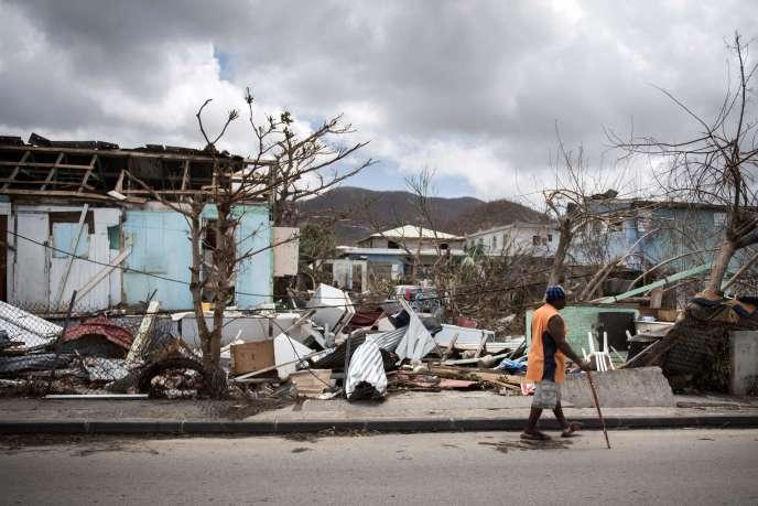 La quasi totalité du bâti de Saint-Martin a été détruit par l'ouragan Irma, en septembre 2017.