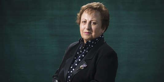 « Si l'on faisait un référendum, 90 % de la population [iranienne] voteraient pour une démocratie laïque », estime Shirin Ebadi, ici en mai 2015. JOEL SAGET/AFP