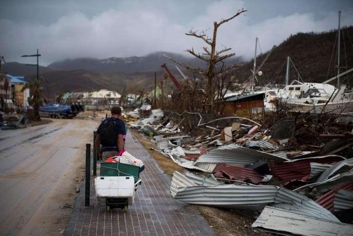 Dégâts après le passage de l'ouragan Irma à Marigot (Saint-Martin), le 9 septembre.