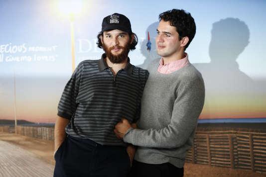 Les réalisateurs Josh et Benny Safdie ont présenté «Good Time» au Festival du cinéma américain à Deauville, le 2 septembre 2017.