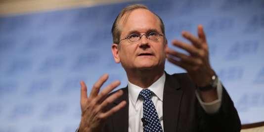 Lawrence Lessig, auteur du célèbre « Code Is Law » (« le code fait loi »), à Washington, en 2015.