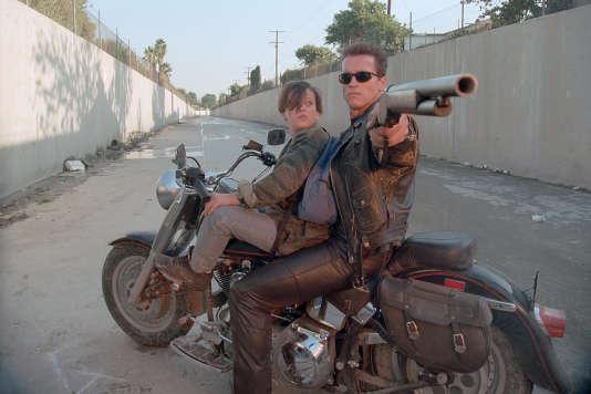 Edward Furlong et Arnold Schwarzenegger dans «Terminator 2», de James Cameron en version 3D.