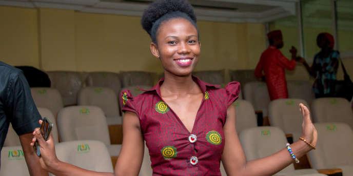 Mylène Flicka en 2017 à Cotonou.