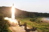 Un missile balistique sud-coréen, lancé lors d'un exercice militaire en septembre 2017.