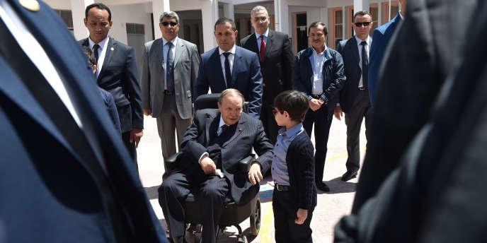 Le président algérien Abdelaziz Bouteflika le 4 mai 2017 à Alger.