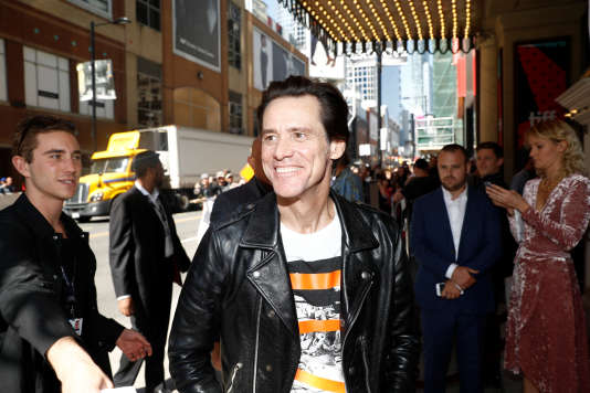 L'acteur Jim Carrey au Festival du film de Toronto, le 11 septembre 2017.