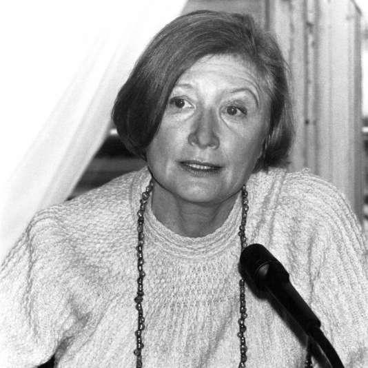 Myriam Ezratty, directrice de l'Administration pénitencière, à Paris, le 26 janvier 1982.