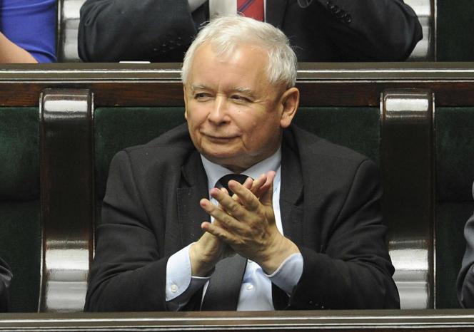 Jaroslaw Kaczynski, président duPiS, le parti au pouvoir en Pologne.