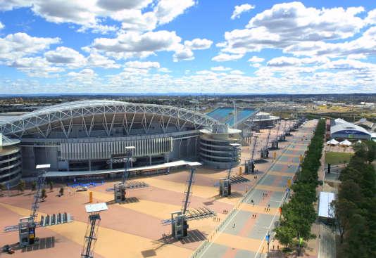 Le parc olympique de Sydney, quelques jours avant la cérémonie d'ouverture des JO 2000.