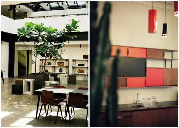 Isabel Marant a installé son siège social dans un ancien studio télé de 2500 m2, au cœur de Paris.