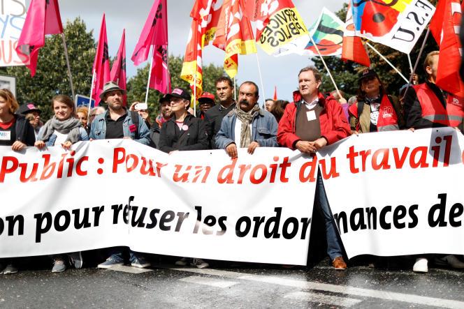 «Cette mobilisation a toutes les chances d'être de faible ampleur, voire invisible» (Photo: Philippe Martinez le 12 septembre 2017 à Paris).