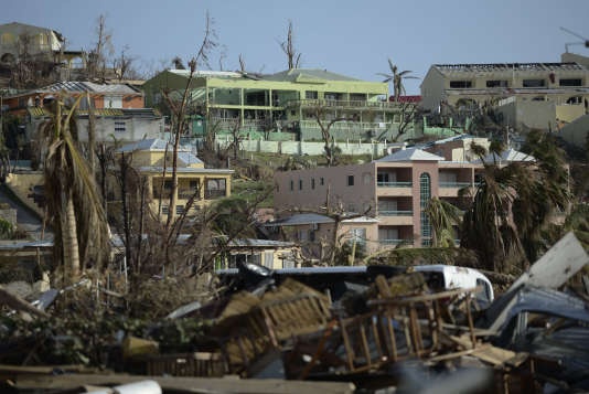L'île de Saint-Martin a été dévastée à 95 % par Irma, toutes les écoles ou presque ont été rasées.