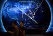 Une carte montrant des attaques informatiques sur le réseau chinois, lors d'une conférence de sécurité informatique à Pékin, le 12 septembre.