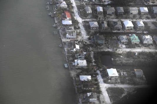 Des habitations endommagées après le passage d'Irma dans l'archipel des Keys, au sud de la Floride.