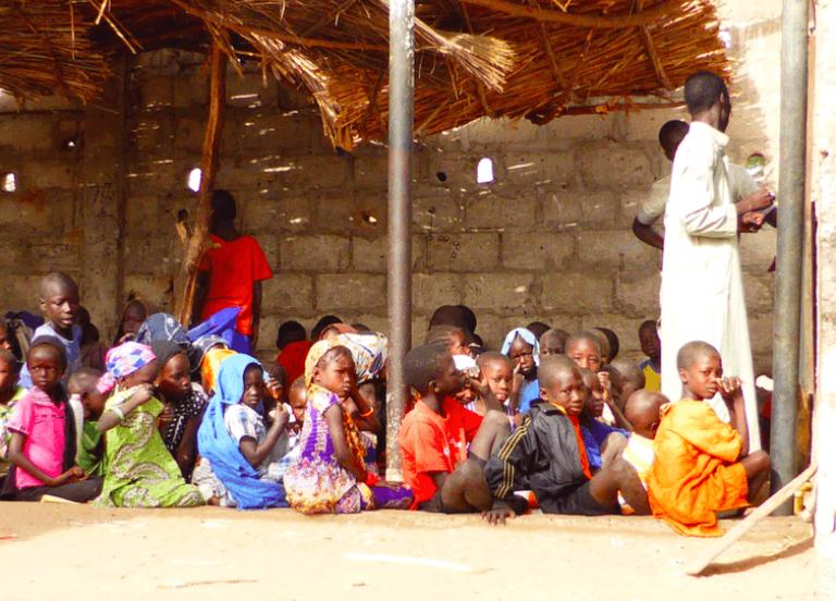 Une école coranique mixte à Diourbel, au Sénégal.