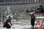 Sur le chantier du stade de Tokyo, le 12 septembre.