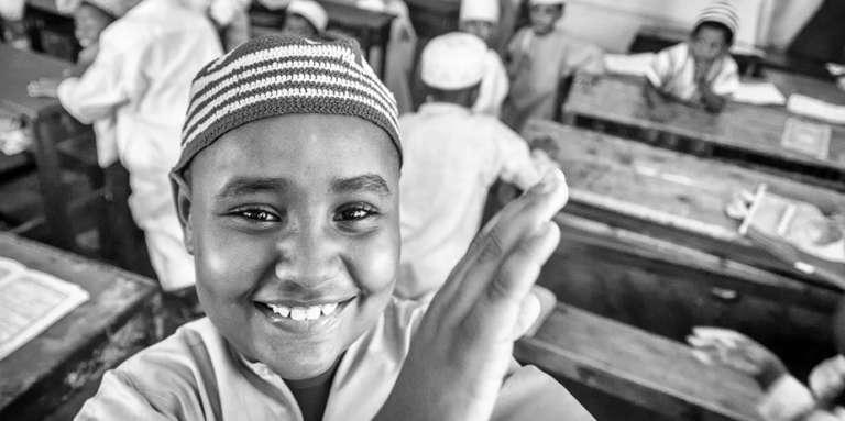 Des enfants d'une école coranique à Mombasa, au Kenya.