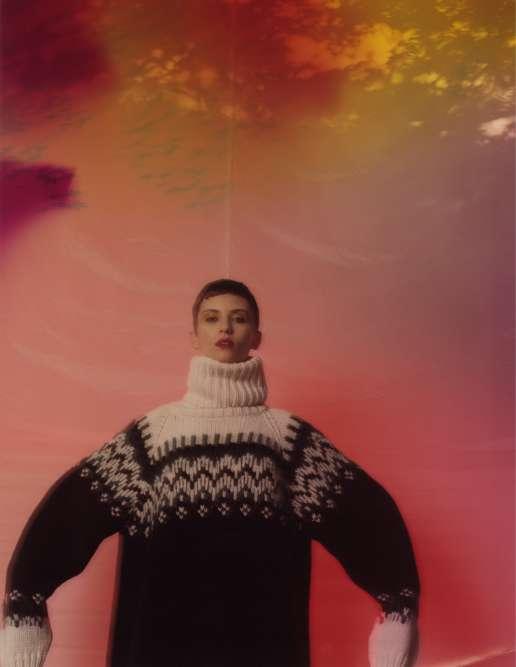 Pull en laine oversized, MM6.