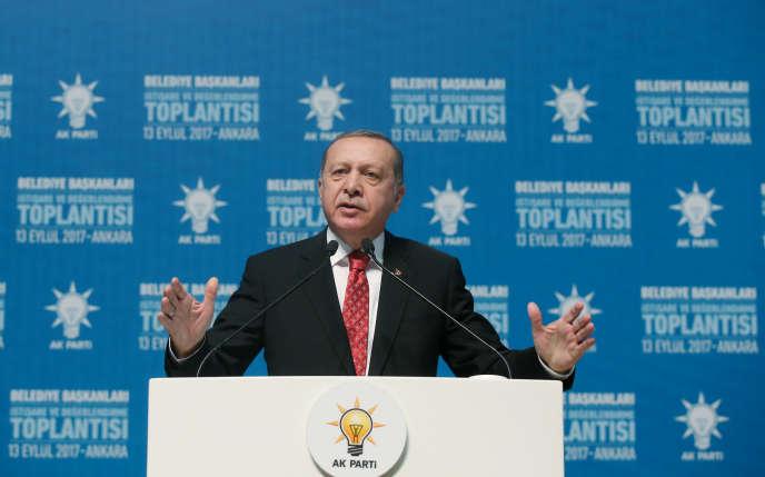 Le président turc, Recep Tayyip Erdogan, à Ankara, le 13 septembre.
