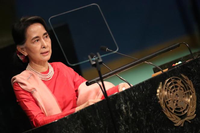 Lors de l'assemblée générale de l'ONU en 2016, la dirigeante birmane avait promis de soutenir les droits des Rohingya.