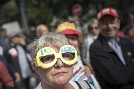 Manifestation contre la réforme du code du travail  à Paris le 12 septembre 2017 - 2017©Jean-Claude Coutausse / french-politics pour Le Monde