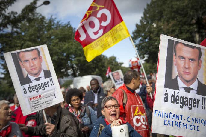 Manifestation contre la réforme du code du travail à Paris le 12 septembre.