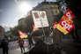 Lors de la manifestation contre la réforme du code du travail, à Paris le 12 septembre.