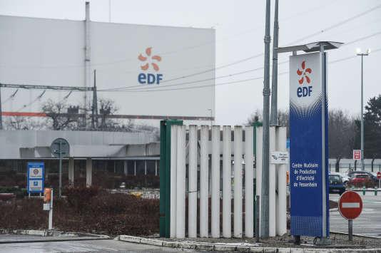 Entrée de la centrale nucléaire de Fessenheim (Haut-Rhin), la doyenne des centrales françaises, en janvier 2017.