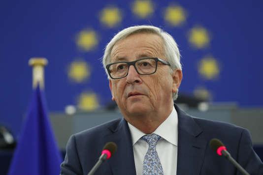 Le président de la Commission européenne Jean-Claude, au Parlement de Strasbourg le 13 septembre.